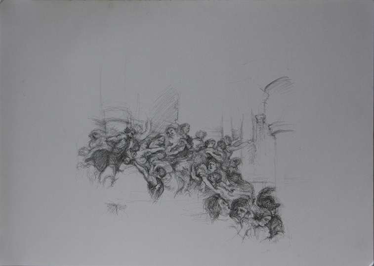 After Rubens (Pencil on Paper, 296mm x 420mm, 2013)