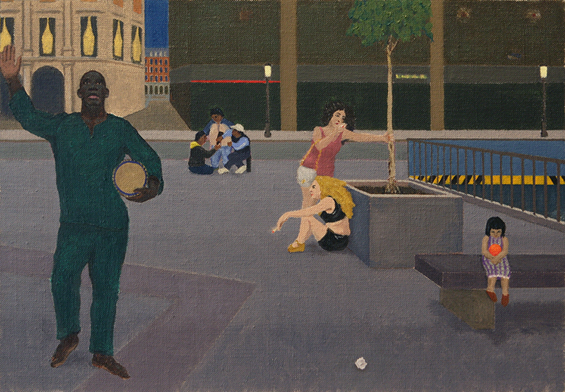En La Plaza (Oil on Canvas on Board, 242mm x 350mm, begun 2008, painted 2013)