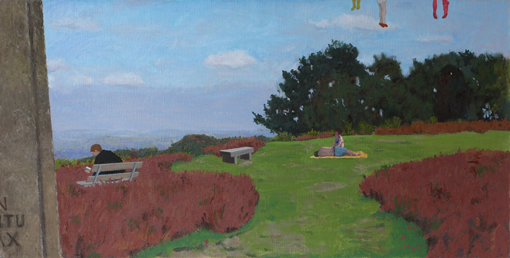 'In Obitu Pax', Gibbet Hill, Hindhead (Oil on Canvas, 330mm x 660mm, begun 2011, painted 2013)