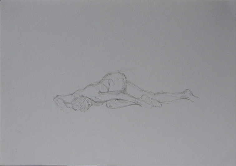 Life Drawing, Laying Out (Pencil on Paper, 210mm x 296mm, 2011)