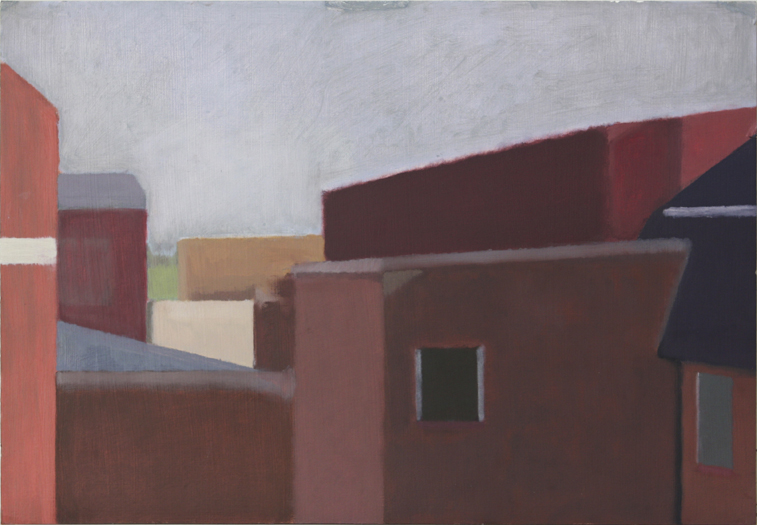 Chelsea Roofs (Oil on Primed Paper, 503mm x 350mm, 2002)
