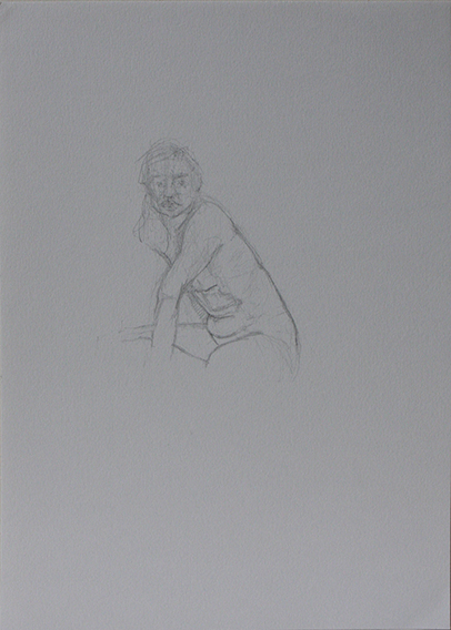 Life Drawing, locked elbow (Pencil on Paper, 296mm x 210mm, 2011)