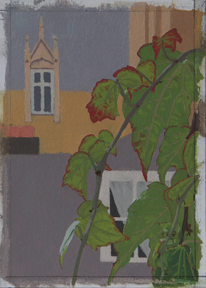 Grey Gloom, Grey Glare (Oil on Primed Paper, 135mm x 95mm, 2011)