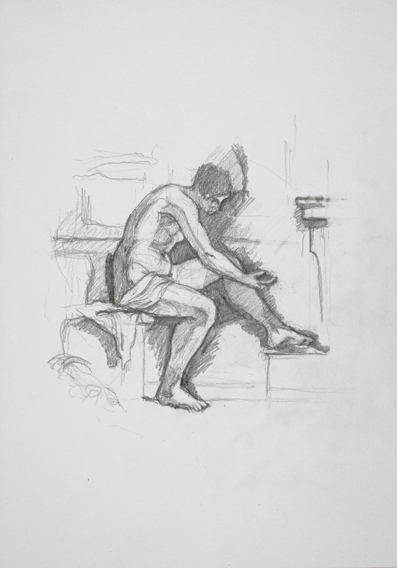 after Guercino (Graphite on Paper, 210mm x 296mm, 2007)
