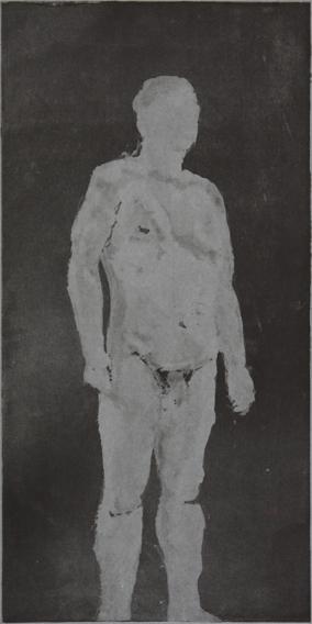 Standing Man (Aquatint Print, 215mm x 437mm, 2001)