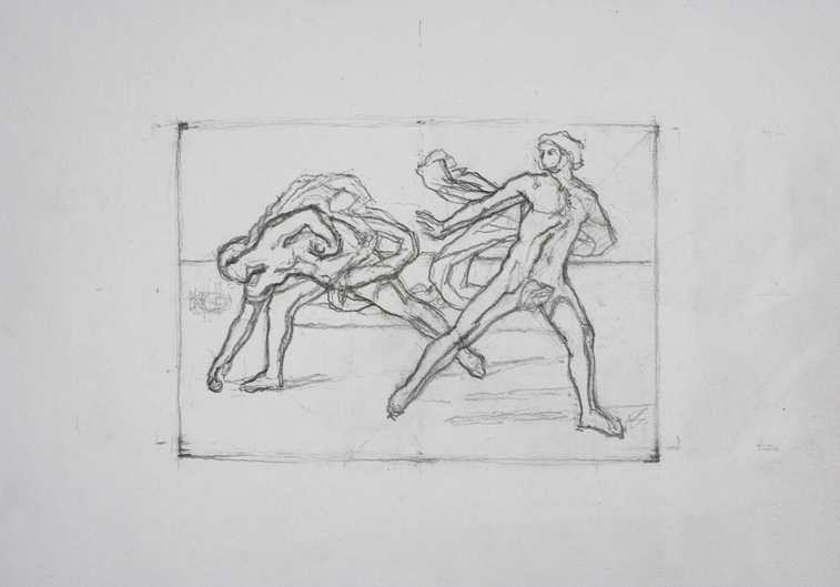 after Guido Reni (Graphite on Paper, 296mm x 210mm, 2007)
