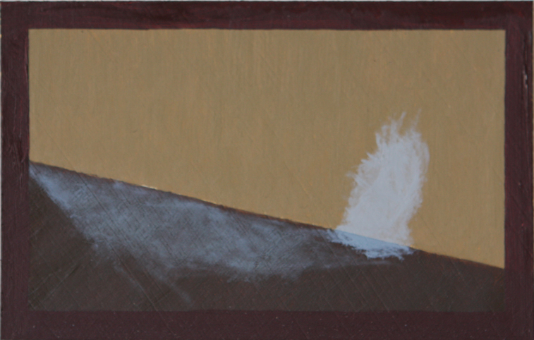 Morning Light-Spots on the Wall, 120mm x 77mm, Oil on Primed Paper, 2011
