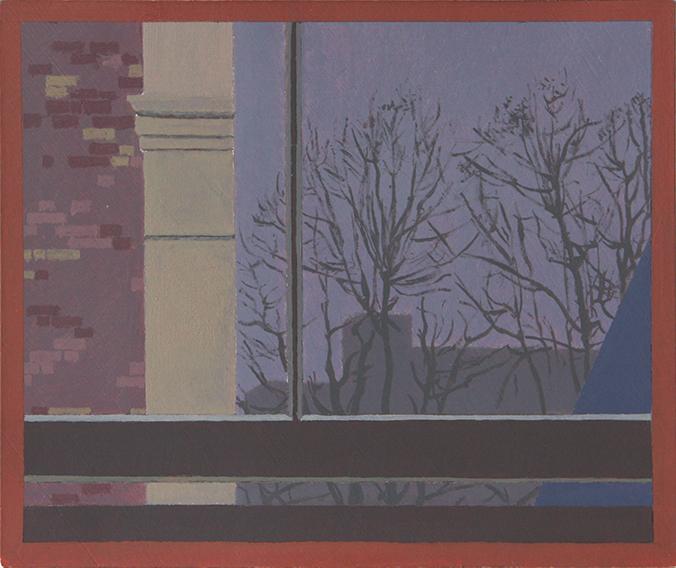 London, Last Weeks of Winter (Oil on Primed Paper, 121mm x 151mm, 2011)
