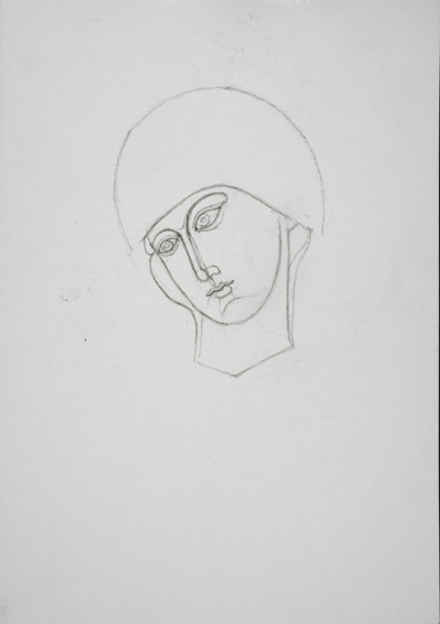 after an Early Sienese (Graphite on Paper, 210mm x 296mm, 2007)