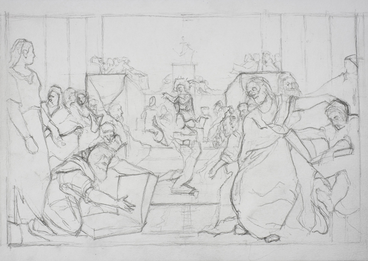 after Tintoretto (Graphite on Paper, 296mm x 210mm, 2007)