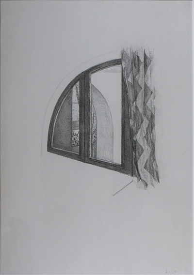 Milanese Gothic (Pencil on Paper, 419mm x 216mm, 2010)