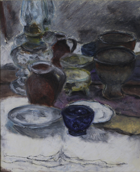 Reflected Still-Life (Oil Pastel on Paper, 288mm x 350mm, 2000)