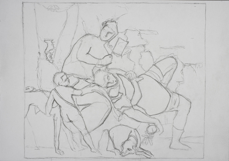 after Veronese (Graphite on Paper, 296mm x 210mm, 2007)