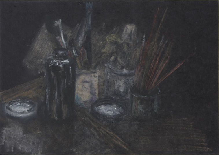Printing Station (Oil Pastel on Paper, 296mm x 210mm, 2000)