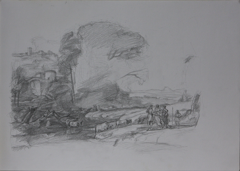 After Claude (Pencil on Paper, 296mm x 420mm, 2012)
