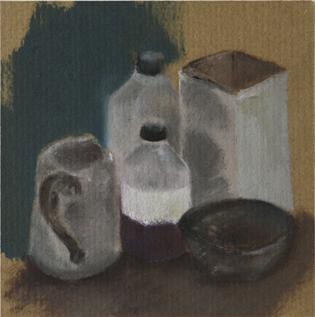 Printing Station (Oil on Paper, 115mm x 126mm, 1999)