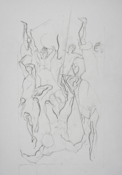 after El Greco (Graphite on Paper, 210mm x 296mm, 2007)