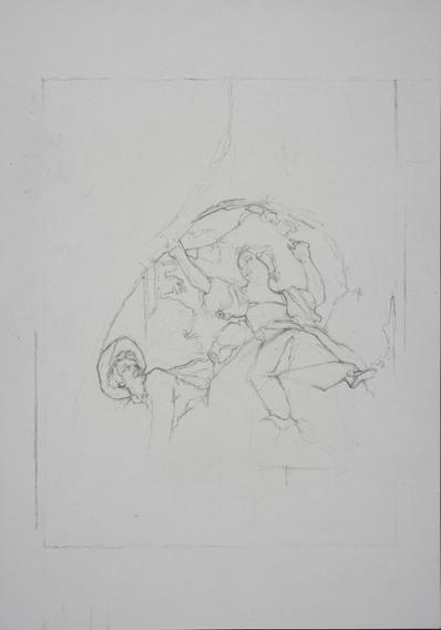 after Fragonard (Graphite on Paper, 210mm x 296mm, 2007)