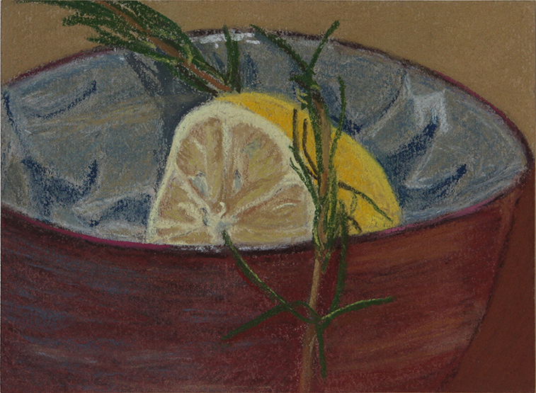 Lemon and Rosemary (Soft Pastel on Paper, 128mm x 174mm, 2010)