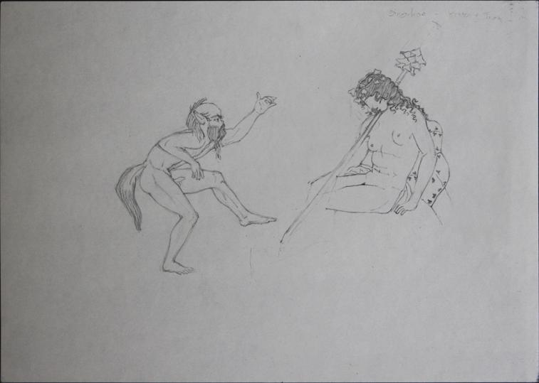after a Greek Vase (Pencil on Paper, 296mm x 210mm, 2006)