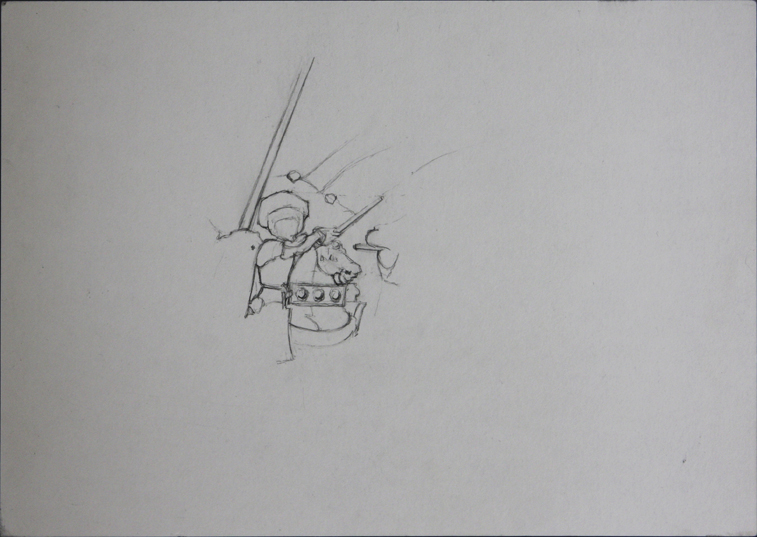 after Uccello (Pencil on Paper, 296mm x 210mm, 2006)