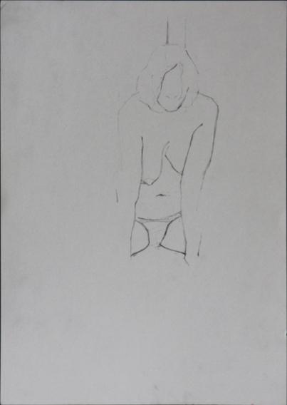 Life Study (Pencil on Paper, 210mm x 296mm, 2006)