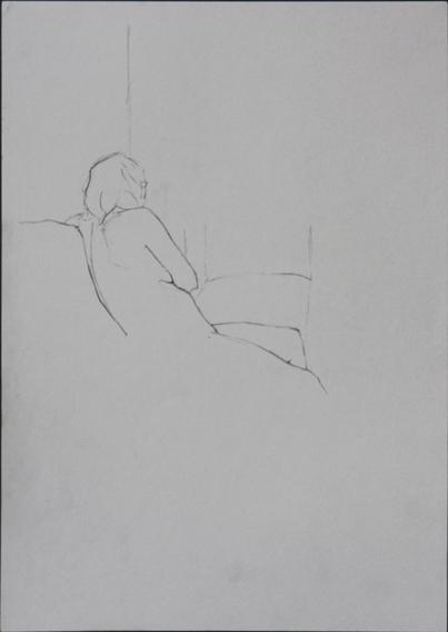 Life Study (Pencil on Peper, 210mm x 296mm, 2006)