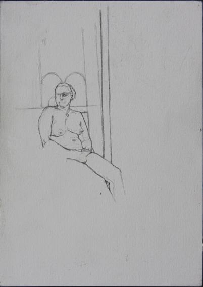 Life Study (Pencil on Paper, 210mm x 296mm, 2005)