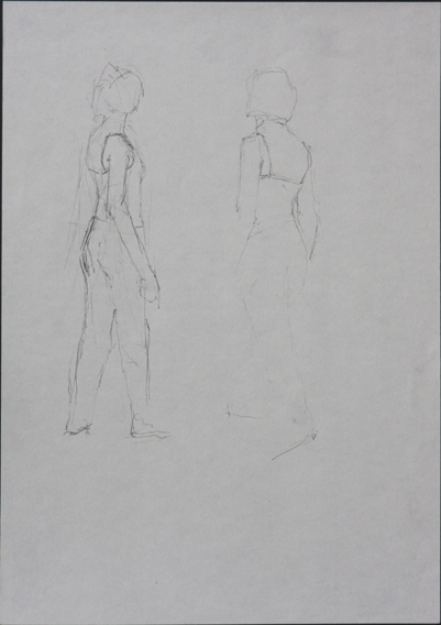 Moving Poses (Pencil on Paper, 210mm x 296mm, 2006)