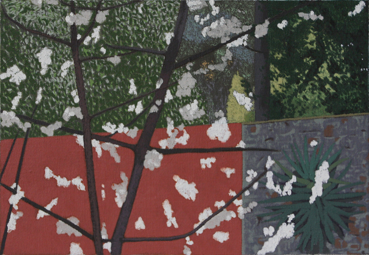 Cherry Blossoms (Oil on Canvas, 289mm x 200mm, 2008)