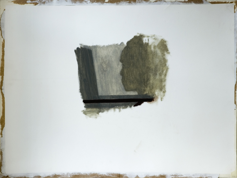 Painting Shadow (Oil on Primed Paper, 740mm x 550mm, 2005)