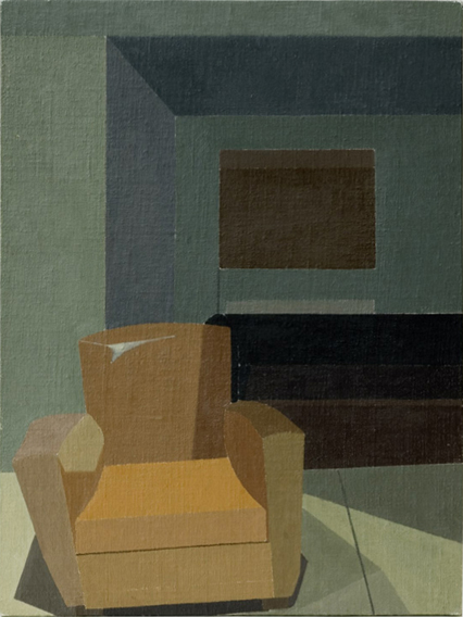 Armchair at Night (Oil on Canvas on Board, 300mm x 391mm, 2005)
