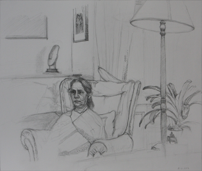 Kalyani (Pencil on Paper, 296mm x 347mm, 2012-13)