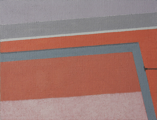 A Hot Wall and My Window (Oil on Canvas, 180mm x 137mm, 2008)