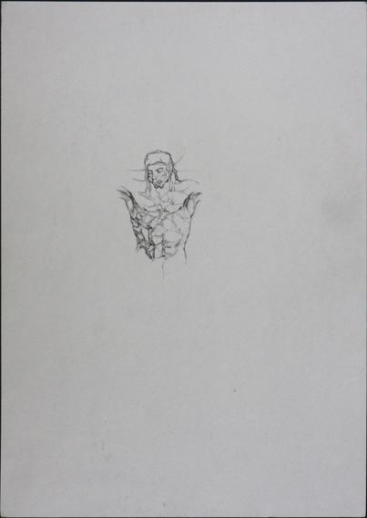 after Andrea del Castagno (Pencil on Paper, 210mm x 296mm, 2004)
