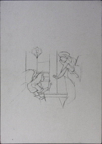 after Botticelli (Pencil on Paper, 210mm x 296mm, 2004)