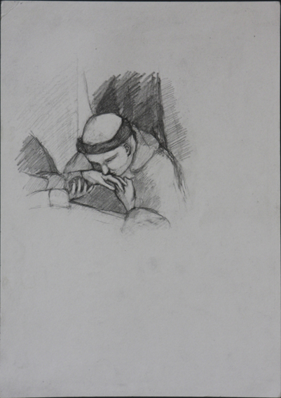 after Giotto (Pencil on Paper, 210mm x 296mm, 2004)