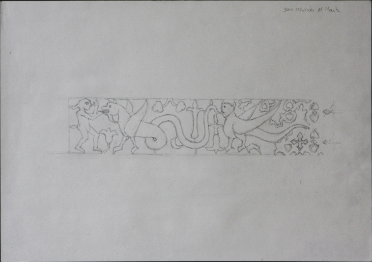 after inlay at San Miniato al Monte (Pencil on Paper, 296mm x 210mm, 2004)