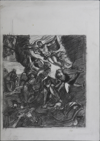 after Tintoretto at San Rocco (Pencil on Paper, 210mm x 296mm, 2004)