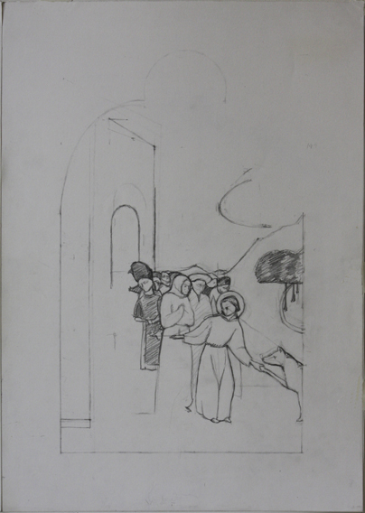 after Sassetta (Pencil on Paper, 296mm x 418mm, 2003)
