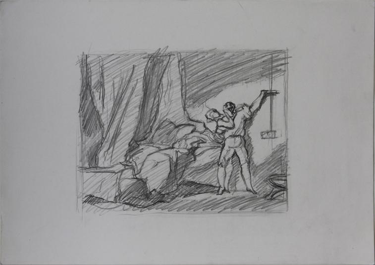 after Fragonard (Pencil on Paper, 418mm x 296mm, 2003)
