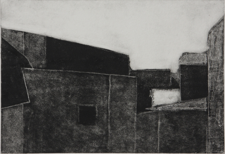 Study of Euston Rooves (Monotype Print, 202mm x 140mm, 2002)
