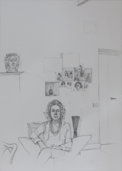 Roberta (Pencil on Paper, 421mm x 91mm, 2012)