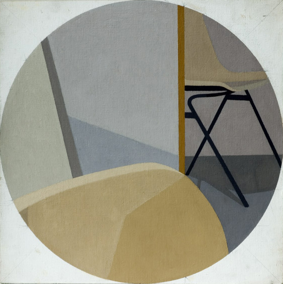 Studio Chairs (Oil on Canvas on Board, 350mm x 350mm, 2004)