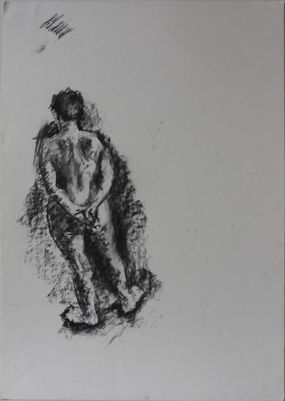 Life Study (Charcoal on Paper, 410mm x 592mm, 2003)