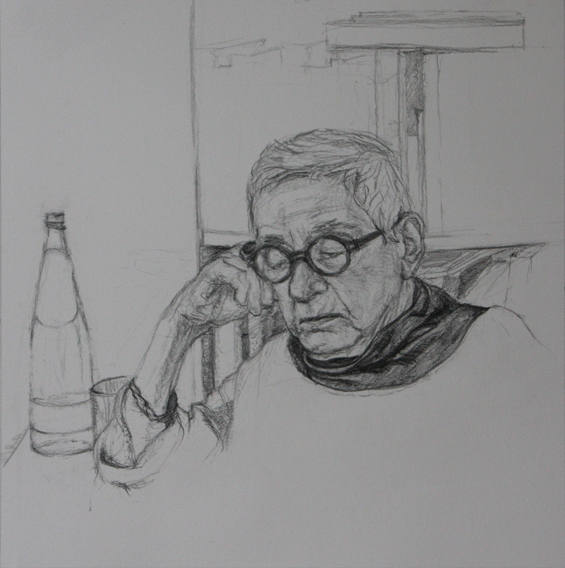 Grandma (Pencil on Paper, 246mm x 246mm, 2012)