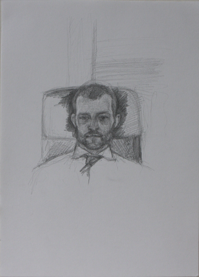 Study for Johnny's Portrait (Pencil on Paper, 296mm x 210mm, 2012)