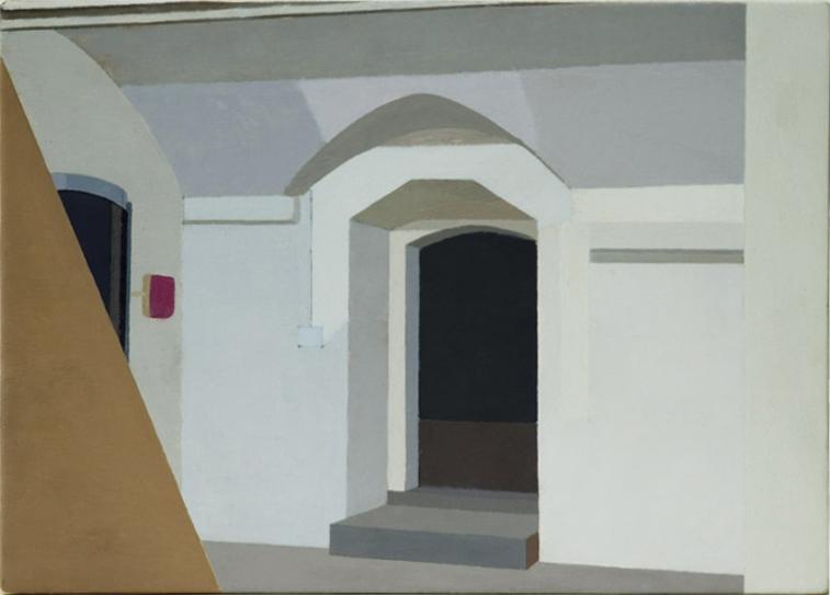 The Basement studio (Oil on Gesso, 281mm x 200mm, 2004)