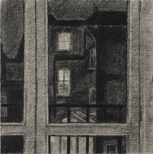 A Night View (Conte on Paper, 178mm x 178mm, 2003)