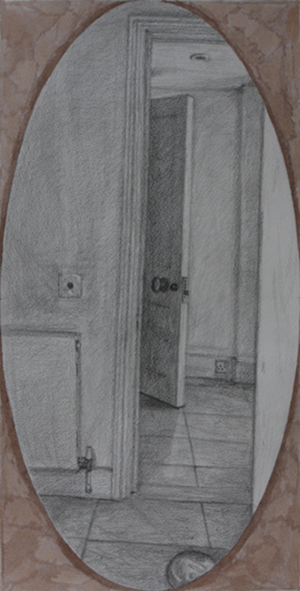 Basement, Flow of Shadow (Graphite on Paper, 480mm x 240mm, 2012)